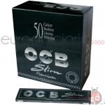 Cartine OCB Slim Nera Lunga x50