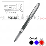 Penne Bic Roller 537R 0.7mm Nera x12