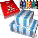 4000 Cartine Bravo Corte + 4500 Filtri Rizla Slim 6mm +acc.