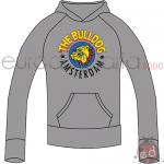 Felpa Grigia S The Bulldog Cappuccioo