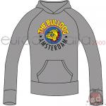 Felpa Grigia L The Bulldog Cappuccio