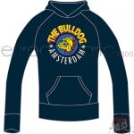 Felpa Blu M The Bulldog Cappuccio