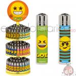 Accendini Clipper Expo Girevole Micro Happy Emoji K x144